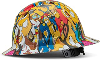 Full Brim Pyramex Hard Hat, Custom Springfield Shenanigans Design Safety Helmet, With 6 Point Suspension, by Acerpal