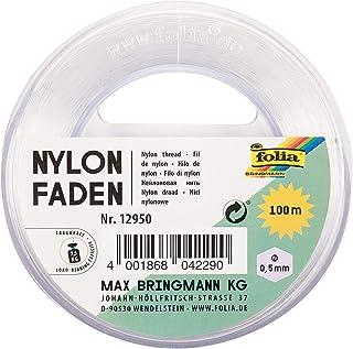 Folia Filament en Nylon sur Bobine - Fil Transparent, à Peine Visible - Idéal pour Les Mobiles, Les Bijoux, la décoration,...