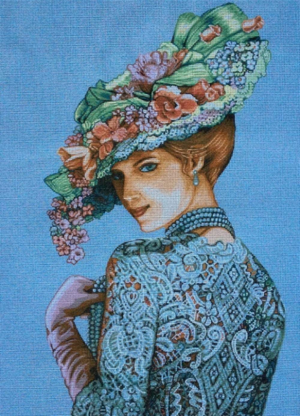Stamped Cross Stitch Kits Beginners for Max 83% OFF Today's only wi Lady Embroidery Adult