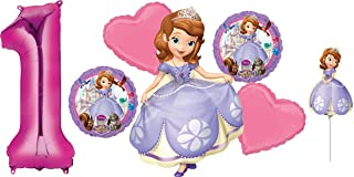 Anagram Disney Princess Sofia The First 1ST Birthday Party Balloons Decorations with Mini Shape AIR Filled Balloon