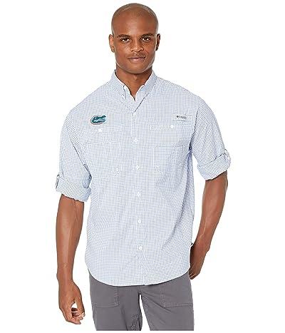 Columbia College Florida Gators Collegiate Super Tamiamitm Long Sleeve (Azul Gingham) Men