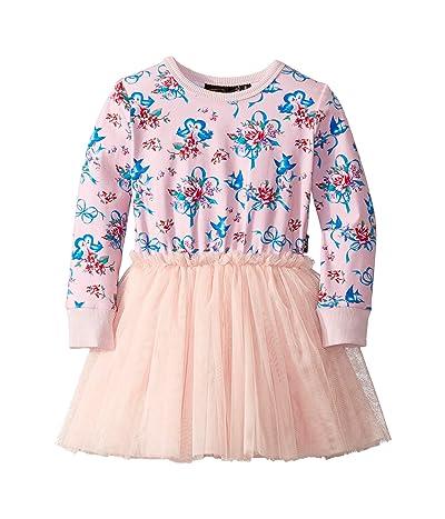 Rock Your Baby Blue Bird Long Sleeve Circus Dress (Toddler/Little Kids/Big Kids) (Pink) Girl