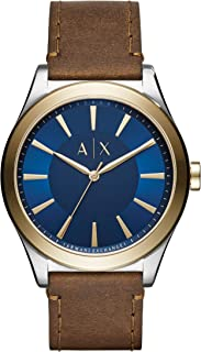A|X Men's Brown Leather Watch AX2334