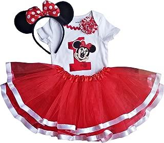 1st Birthday Outfit Baby Girl Minnie Tutu + Headband