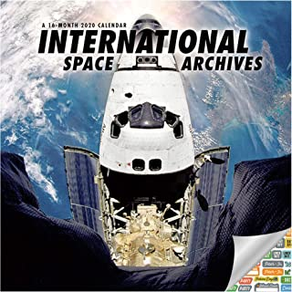 Space Calendar 2020 Set - Deluxe 2020 Astronomy Wall Calendar with Over 100 Calendar Stickers (Hubble and International Space Station Images)