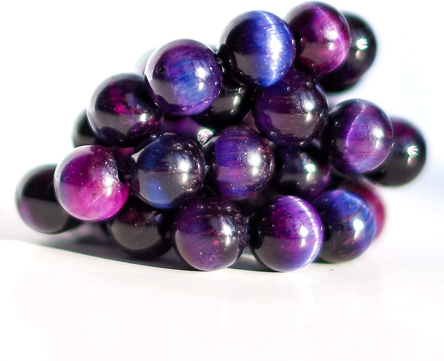 8mm Galaxy Brand new Purple High material Blue Tiger Beads Eye – Proudly N.American