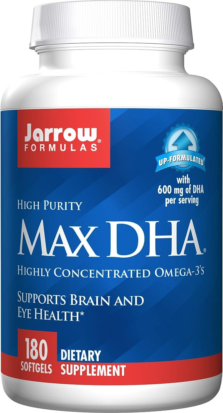ベリかなり編集者海外直送品 Jarrow Formulas Max DHA, 180 Softgel 607 MG