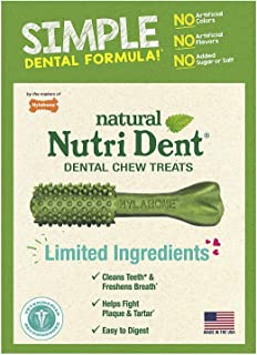 Nutri Dent Limited Ingredient Dental Dog Chews | Small Size | 50 Count | Filet Mignon or Fresh Breath Flavors