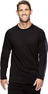 Gaiam Men's Long Sleeve Crew Neck T Shirt - Yoga & Workout Activewear Top