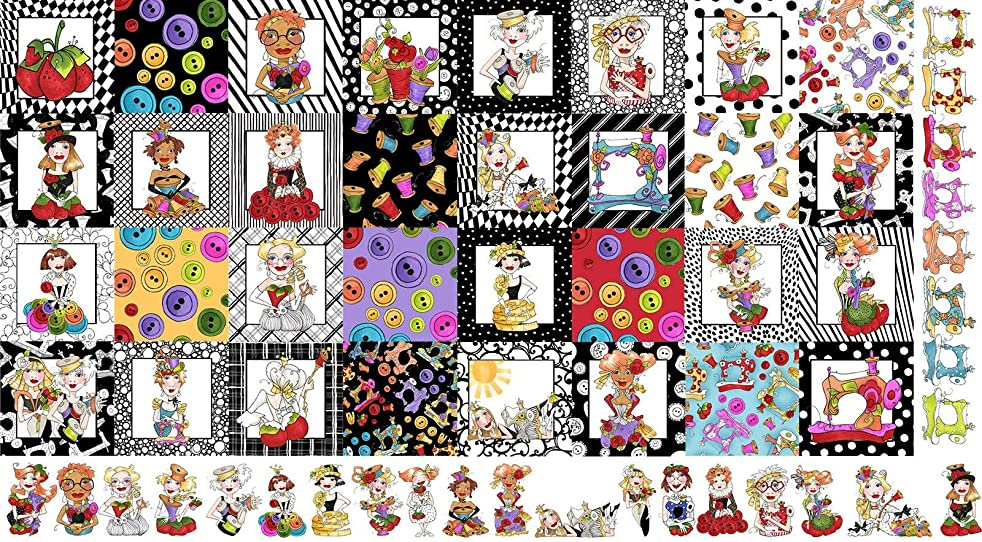 Medley Sew Curious Fabric Panel by Loralie Designs