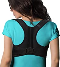 Back Brace Posture Corrector Straightener - Fully Adjustable Posture Support for Men and Women That Takes Away Back Pain, Improves Posture and Provides Lumbar Support - Neck Hump Corrector (Medium)