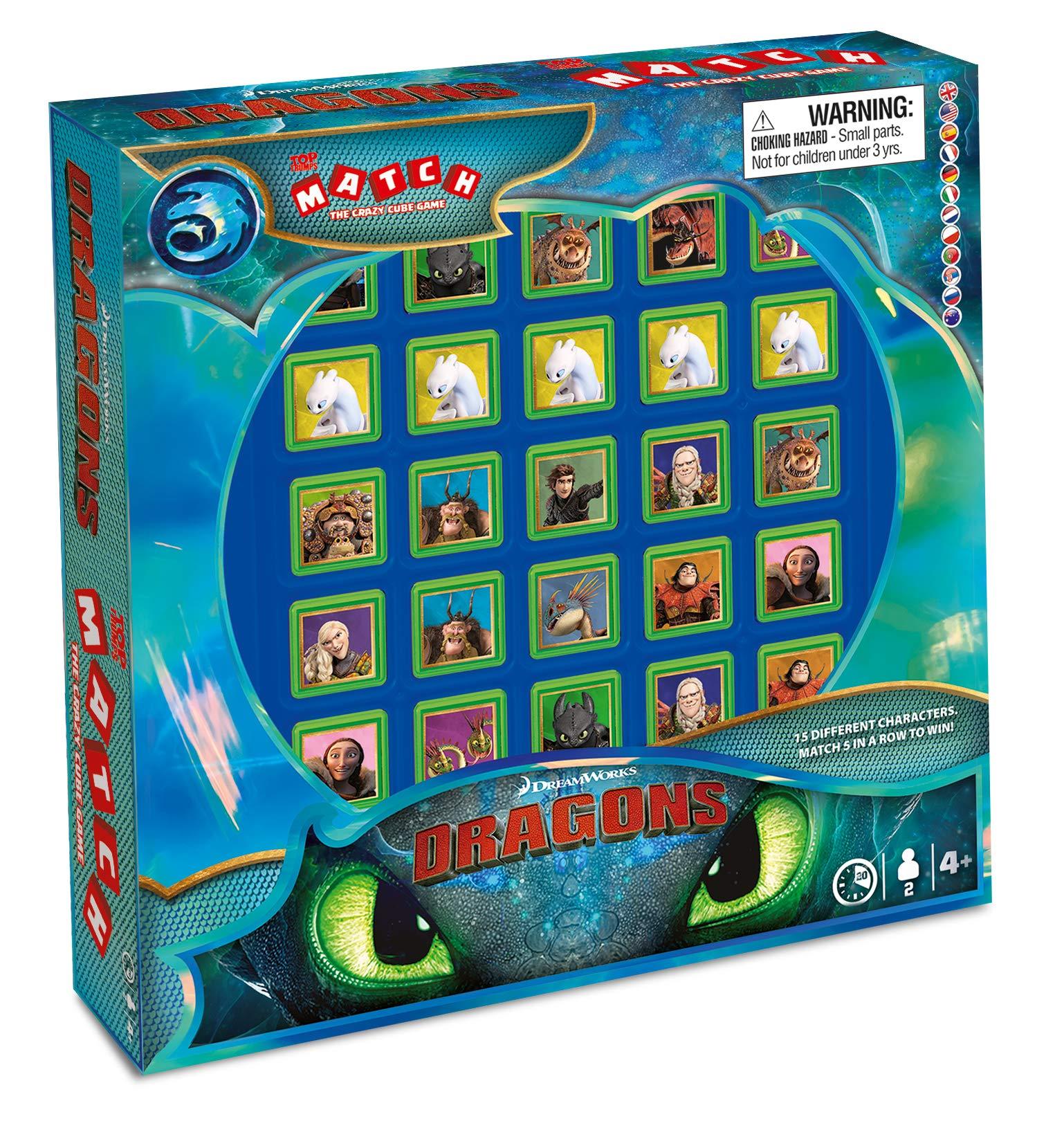 Winning Moves 63285 Ohnezahn Match How to Train Your Dragon - Juego de Mesa (Contenido en alemán): Amazon.es: Juguetes y juegos