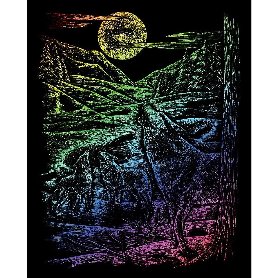 Royal and Langnickel Rainbow Engraving Art, Howling Wolves