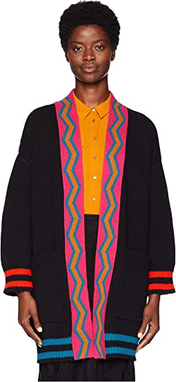 Multicolor Stripe Cardigan Jacket