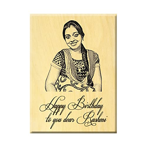 Incredible Gifts India Birthday Present Ideas - Engraved Photo On Maple Wood (5X4 Inches)