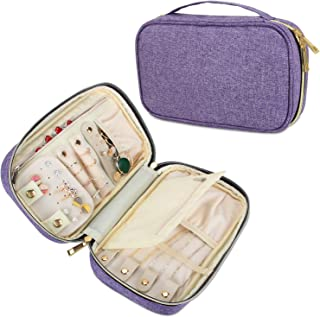 Teamoy Travel Jewelry Case, Jewelry Storage Organizer for Necklaces, Earrings, Bracelets, Rings, Brooches and More, Medium, Purple-(Bag Only)