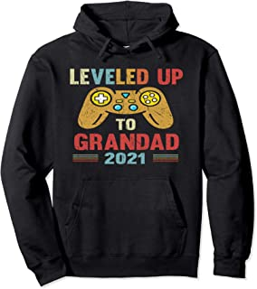 Promoted To Grandad EST 2021 Leveled Up To Grandpa Sweat à Capuche