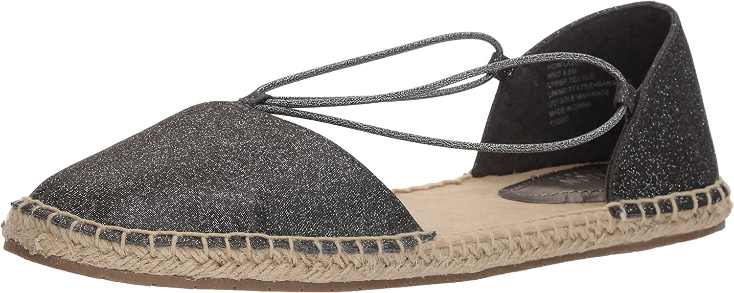 Kenneth Cole REACTION Womens How Laser Flat Espadrille with Elastic Straps Espadrille Wedge Sandal