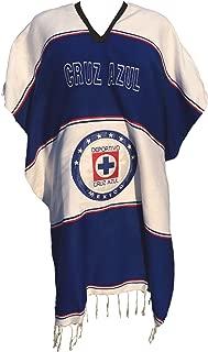 Cruz Azul Mexican Soccer Team Poncho Adult Size