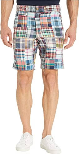 Acid Washed Patch Madras Shorts