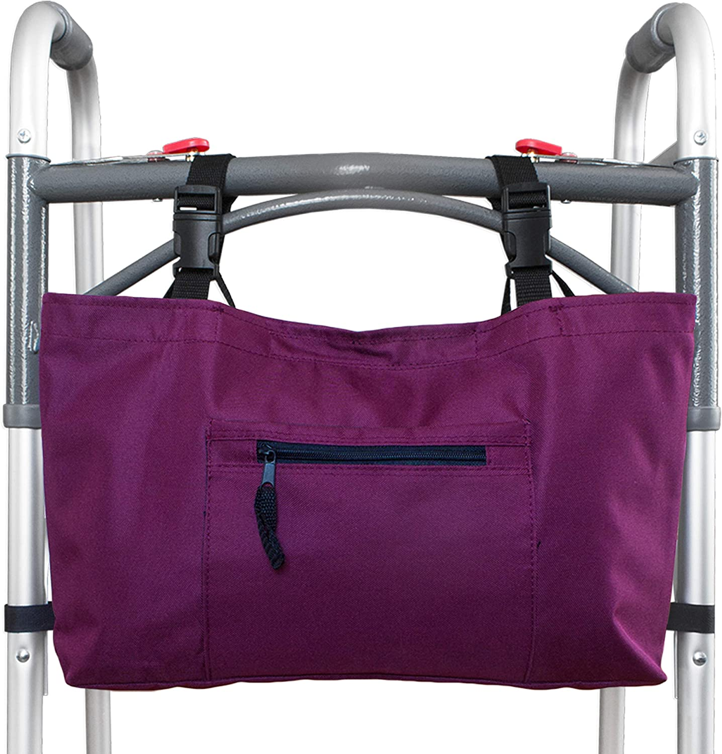 RMS Walker Bag with Soft Cooler - Water Resistant Tote with Temperature Controlled Thermal Compartment, Universal Fit for Walkers, Scooters or Rollator Walkers (Wine)