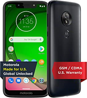 Moto G7 Play with Alexa Push-to-Talk – Unlocked – 32 GB – Deep Indigo (US Warranty) – Verizon, AT&T, T–Mobile, Sprint, Boo...
