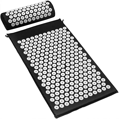 Sivan Back and Neck Pain Relief Acupressure Mat and Pillow Set, Chronic Back Pain Treatment - Relieves Your Stress of...
