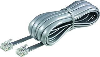 Softalk Phone Line Cord 15-Feet Silver Landline Telephone Accessory (46615)