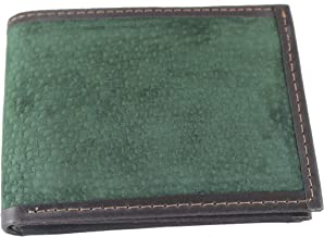 Capybara Carpincho Mens Wallet Exclusive Argentine Leather Side Window ID Green