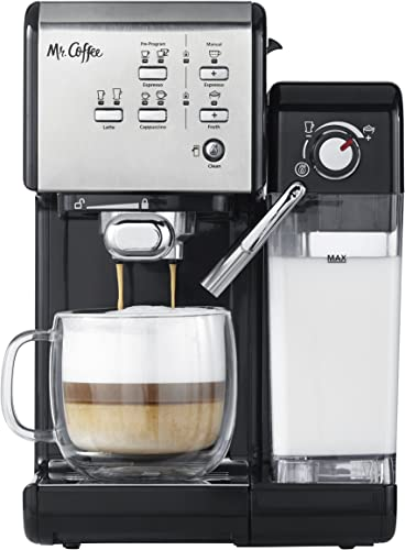 popular Mr. online sale Coffee One-Touch CoffeeHouse Espresso Maker and Cappuccino outlet online sale Machine online sale