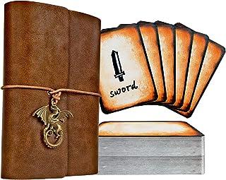 حامل بطاقات دفاتر Spellbook D&D RPG جيب كتاب وهجيئة & حامل بطاقات مرجعية، ملحقات ألعاب TTRPG للأبراج المحصنة والتنانين للم...