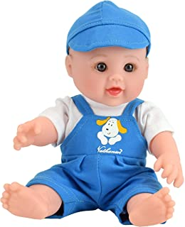 TUSALMO 12 inch Vinyl Newborn Baby Dolls for Children's and Granddaughters Holiday Birthday Gift, Lifelike Reborn Washable Silicone Doll, Reborn Baby Doll.(Blue)
