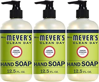 Mrs. Meyer's Clean Day Liquid Hand Soap, Lemon Verbena Scent, 12.5 fl oz (Pack of 3) (Pack of 3)