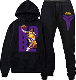 K-o-be B-ryant Hoodies and Long Pants Sweatshirts Casual Sport Suit Tracksuit for Men Women