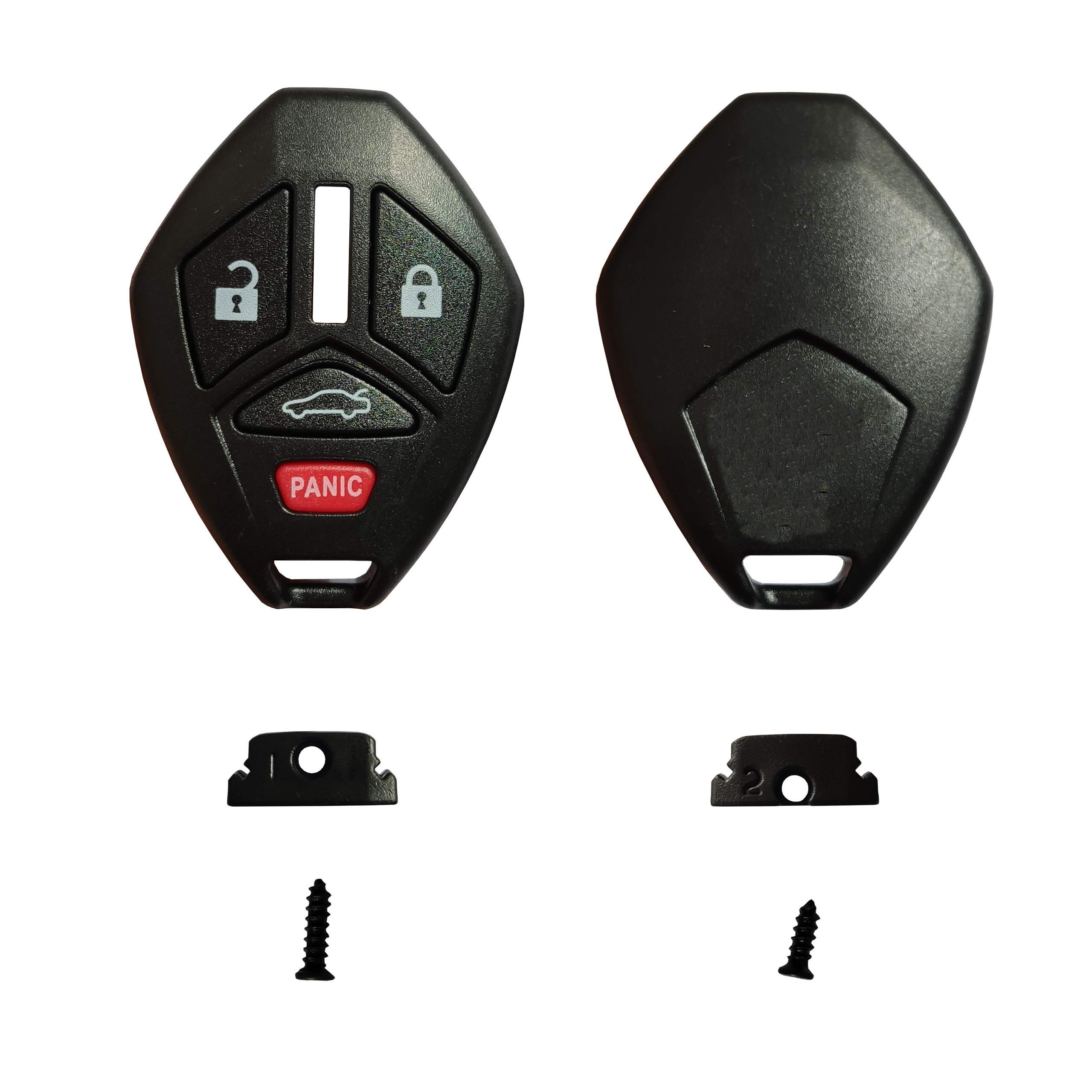 KeylessOption Keyless Entry Remote Uncut Car Key Fob Replacement for Mitsubishi OUCG8D620MA