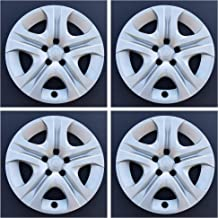 MARROW New Wheel Covers Fits 2013-2018 Toyota RAV4,17 Inch; 5 Spoke; Silver Color; Plastic; Set of 4; Bolt On