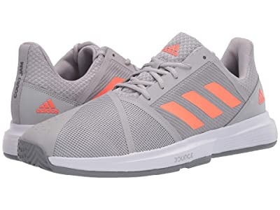 adidas CourtJam Bounce (Grey Two/Signal Coral/Grey Three) Men