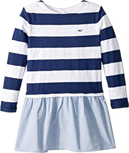 Stripe Oxford Sweatshirt Dress (Toddler/Little Kids/Big Kids)