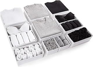Eco Home Store Grand Organisateur tiroir Lot de 12 séparateurs Blancs pour Maison Boite de Rangement tiroir Panier Rangeme...