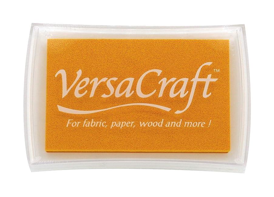 Tsukineko Full-Size VersaCraft Fabric and Home Decor Crafting Pigment Inkpad, Lemon Yellow