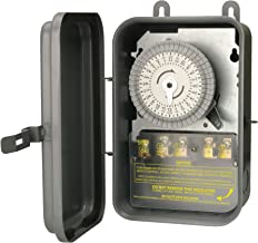 Woods 59104RWD Outdoor 24-Hour Heavy Duty Mechanical Time Switch, 208/277V 40A DPST