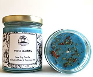 Art of the Root House Blessing Soy Herbal Candle 8 oz for Good Fortune, Blessings, Peace & Tranquility
