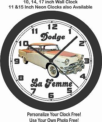 amazon jim s classic clocks 1960 chevrolet corvair wall clock Classic Cars and Trucks jim s classic clocks 1955 dodge la femme big 10 inch wall clock free usa ship