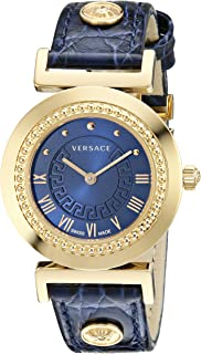 Women's P5Q80D282 S282 Vanity Analog Display Swiss Quartz Blue Watch