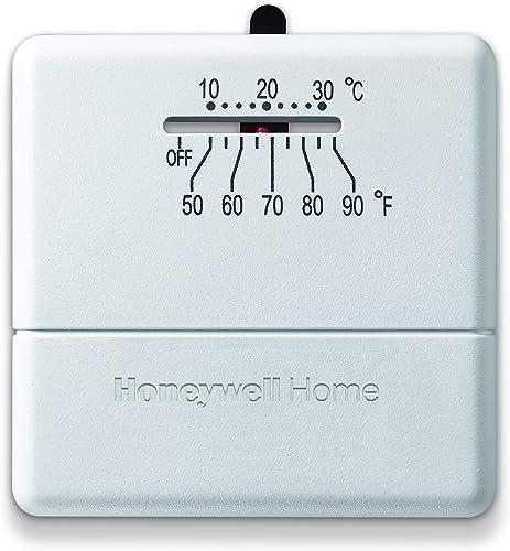 Honeywell Home CT33A1009/E1 CT33A Economy Millivolt Non-Programmable Thermostat, White