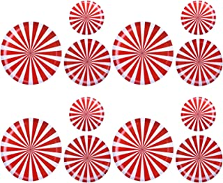 Toddmomy 12Pcs Christmas Peppermint Floor Decals Lollipop Floor Stickers Removable Wall Stickers for Christmas Candy Party...