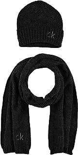 Calvin Klein KNITTED BEANIE + SCARF 40X180CM heren Winter Accessoires Set