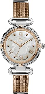 Gc Womens Quartz Watch, Analog Display And Stainless Steel Strap - Y58001L1MF