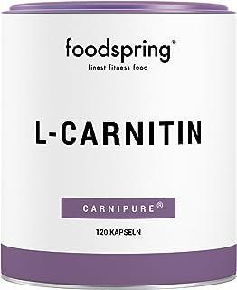 foodspring - L-carnitina - Ideale per definire il corpo -Per trasformare il grasso in energia per il tuo allenamento -Qualità premium Carnipure certificata - 120 capsule