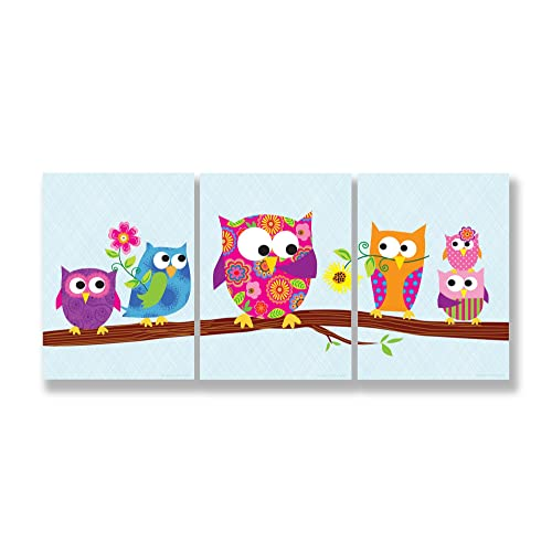 Crazy lin Animal Owls on Tree Branches for Baby Kids Children Room decoration